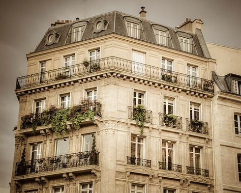 Paris Photography, Apartment Building Architecture Photo Neutral Colors Beige Brown Pastel Tones France par19