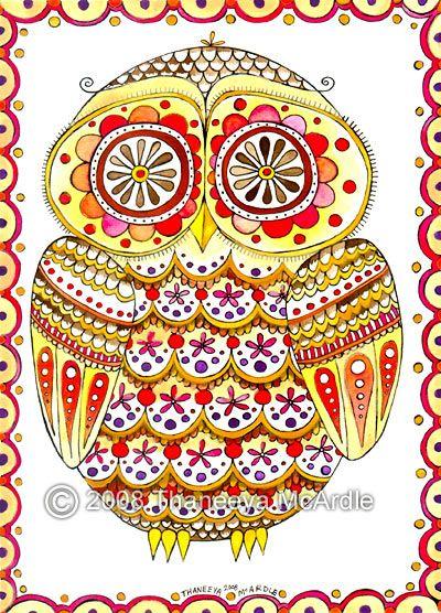 owl sugar skull! love it!
