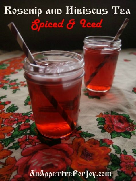 Rosehip & Hibiscus Tea (Spiced & Iced!)  Much higher quality than even the expensive herbal teas on the market - at a fraction of the price.