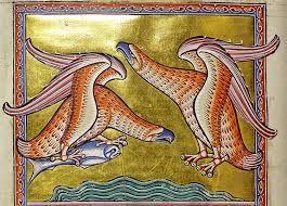 Fine Art Print//Poster 12th Century Manuscript Aberdeen Bestiary: A Hawk.