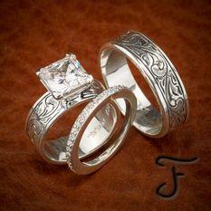 R 20 Western Wedding Ringsrustic