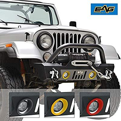 Amazon Com Eag Stubby Front Bumper With Led Lights And Multiple