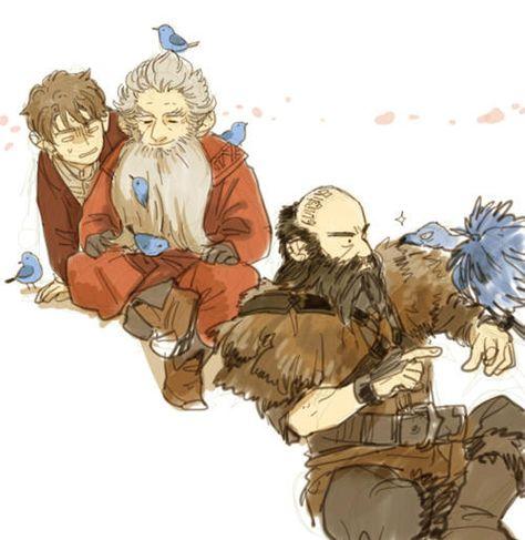 The Hobbit - Bilbo, Balin and Dwalin