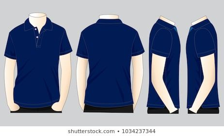 Download Polo Shirt Template Navy Blue Google Search Gambar