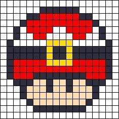 Pixel Art Toad Tete Recherche Google Pixel Art Perles