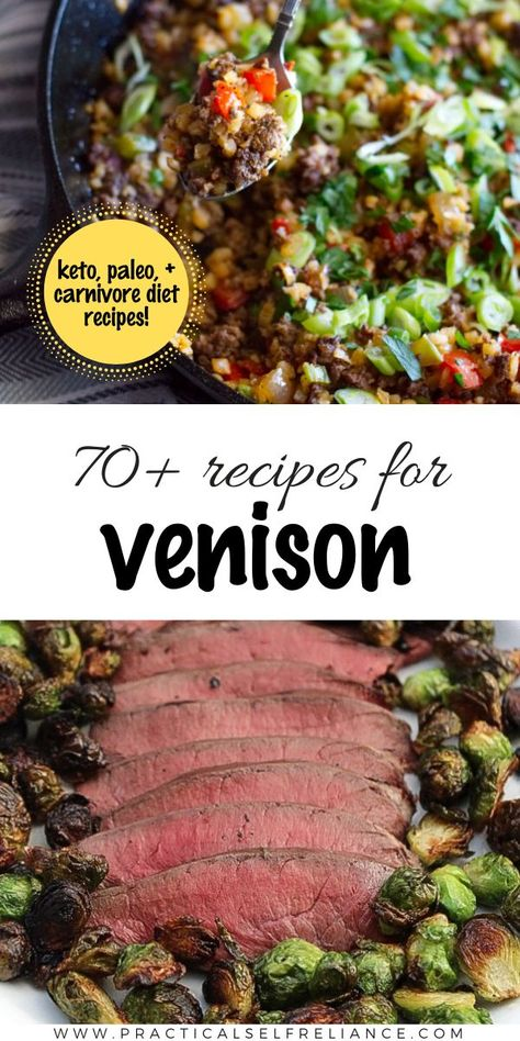 Well crafted keto, paleo, and carnivore venison recipes that are loaded with healthy fats can turn your fall harvest into a spectacular meal. There's nothing better than a little wild game on the table when it's well prepared and low in carbs! Deer Recipes, Wild Game Recipes, Veggie Recipes, Veggie Food, Healthy Recipes, Best Venison Recipe, Venison Sausage Recipes, Venison Meals, Grilling Recipes