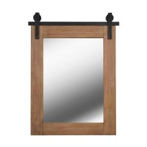 Firstime Co Ivywood Rustic White Barn Door Mirror With Shelf 70112 The Home Depot In 2020