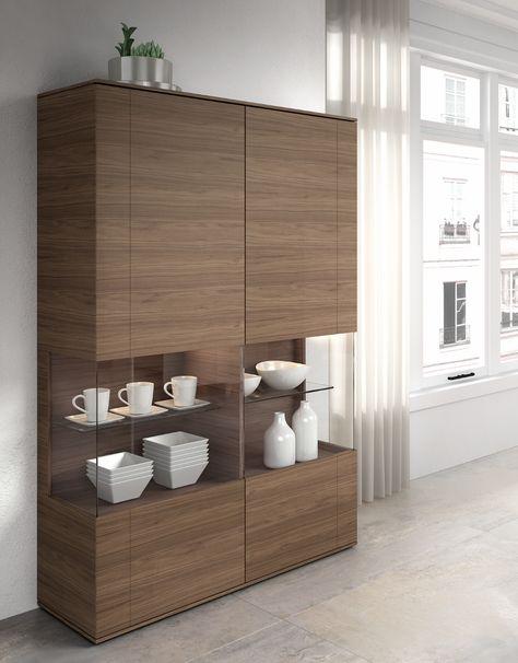 Vitrina moderna madera