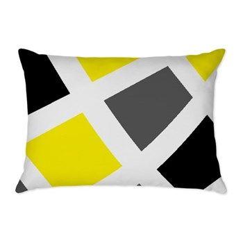 Yellow Gray Black Geometr Rectangular Throw Pillow By Designsbyharmony Cafepress In 2020 Throw Pillows Designer Throw Pillows Pillows