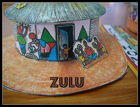 African Houses - Venda, Zulu, Ndebele, etc  | DIY | Paper
