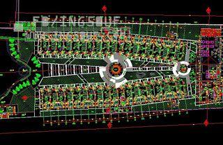 خربشات مهندس مخططات معمارية فندق 5 نجوم بشكل مميز 2 اتوكاد Dwg Autocad