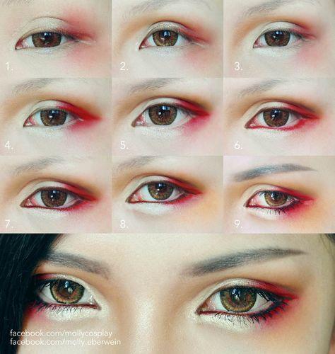 47 Trendy Ideas For Eye Anime Tutorial Cosplay Makeup 47 Trendy Ideas For Eye Anime Tutorial Cosplay Eye Makeup Blue, Asian Eye Makeup, Natural Eye Makeup, Makeup Eyeshadow, Eyeliner, Asian Eyeshadow, Hair Makeup, Eyeshadow Ideas, Beauty Makeup