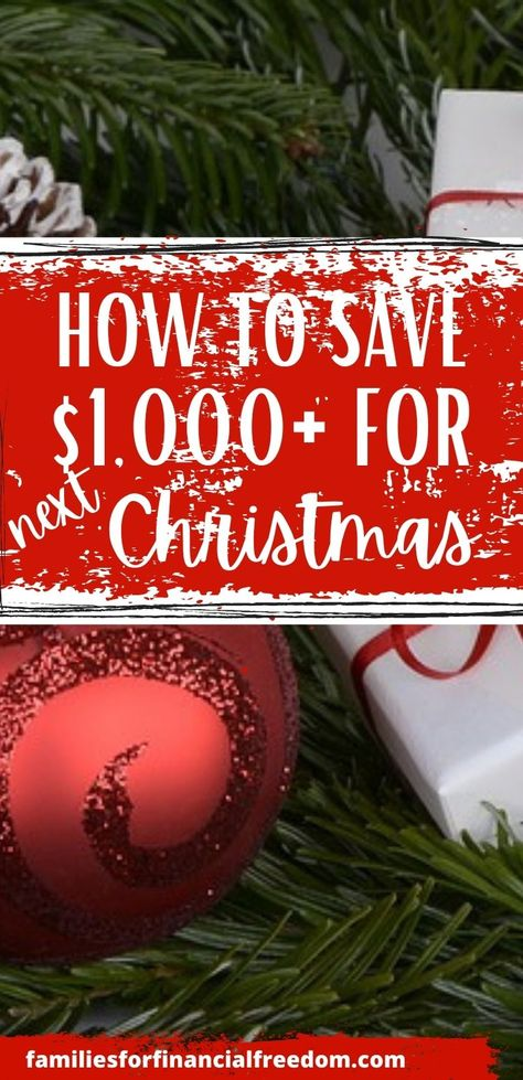 Find simple tips to save money by Christmas! Save $500 or $1000 (or more!) by Christmas to use for Christmas presents, Christmas decorations, Christmas food, Christmas treats, DIY Christmas decorations, and so much more! Simple ways to save money for Christmas. #christmas #christmasgifts #christmaspresents #christmasprintables #holiday #budget #frugal #money #savemoney