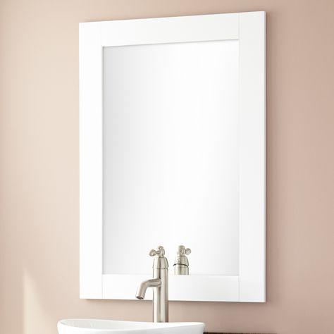 Signature Hardware Lander Vanity Mirror White Bathroom Supplies Accessories Home Garden