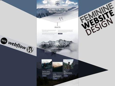 Feminine Website Design on Wordpress Wix or Webflow