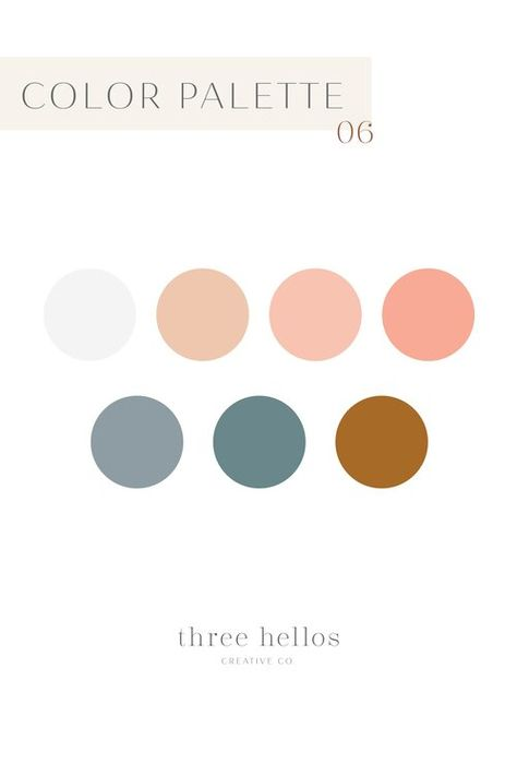 Color Palette Series - Palette 04 — Three Hellos | Artisan Branding, Web Design & Stationery for Passionate Creatives and Small Businesses