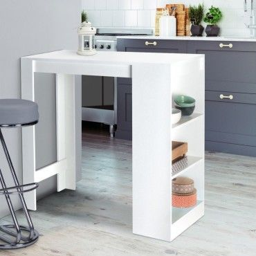 Table De Bar Barth 2 A 4 Personnes Plateau Blanc Q91620621 Table Bar Tabouret Design Meuble Bar Cuisine