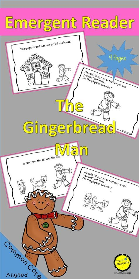 Emergent Readers Gingerbread Man With Images Guided Reading