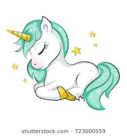 Cute magical unicorn. Vector design on white background. Print for t-shirt or st... - #background #Cute #design #magical #Print #st #TShirt #Unicorn #Vector #White