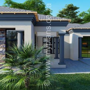 3 Bedroom House Plan Mlb 008 1s House Plans South Africa Bedroom House Plans House Plan Gallery