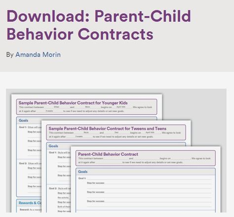 How To Write A Behavior Contract For Teenagers Parenting