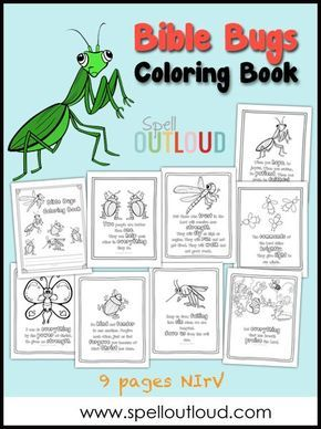 Bible Bugs Scripture Coloring Pages | Sunday school craft