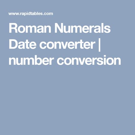 Latin Date Converter 15