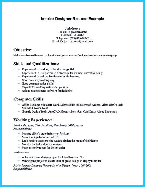 awesome Amazing Actor Resume Samples to Achieve Your Dream - interior designer resume objective