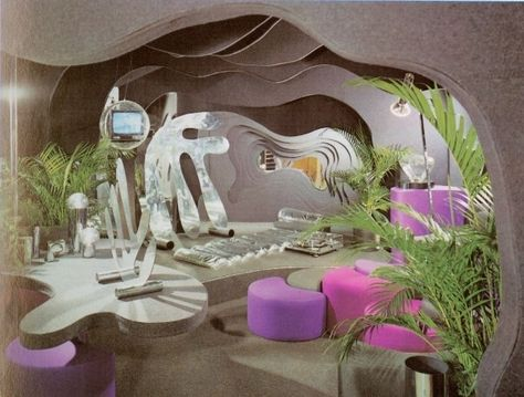 Home Design Ideas: Home Decorating Ideas Vintage Home Decorating Ideas Vintage Bloomingdales Book of Home Decorating Organic Architecture, Interior Architecture, Interior And Exterior, Minimalist Architecture, Futuristic Interior, Retro Futuristic, Futuristic Party, Futuristic Design, 70s Decor