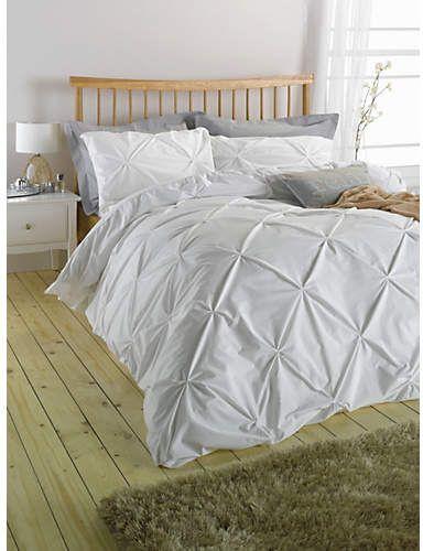 Argos Home Hadley White Pintuck Bedding Set Kingsize Shopstyle Duvets Pintuck Bedding Argos Home White Bed Set