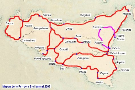 Sicily Train Map Great Advices On The Blog Sizilien Italien