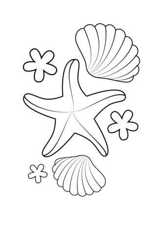 12 Aimable Coquillage Coloriage Photograph Coloriage Etoile Coquillage Dessin Coloriage