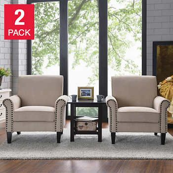 Monroe Fabric Club Chair 2 Pack Costco Club Chairs Versatile Chairs Living Room Chairs