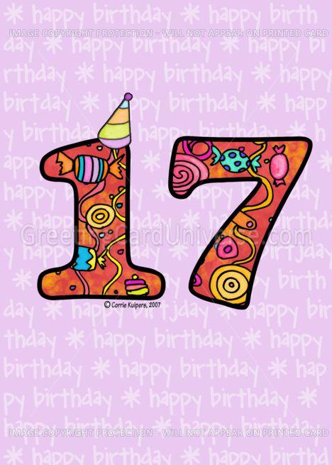 Seventeenth Birthday Card Ad Ad Seventeenth Birthday Card Seventeenth Birthday Birthday Cards 17th Birthday Party Ideas