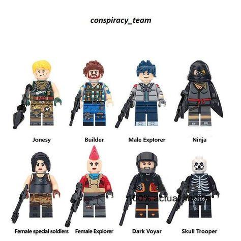 NEW* Custom fit Lego Fortnite Battle Royale Minifigures Sky Fox Explorer  Raven LEGO Building Toys LEGO Minifigures Toys & Hobbies