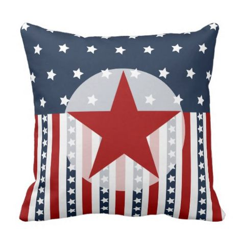 Patriotic Stars And Stripes American Flag Design Throw Pillow Enchanting American Flag Decorative Throw Pillow