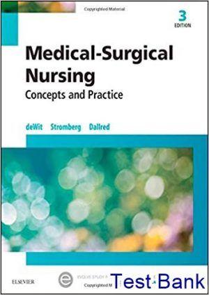 Medical Surgical Nursing 3rd Edition Dewit Test Bank Medical