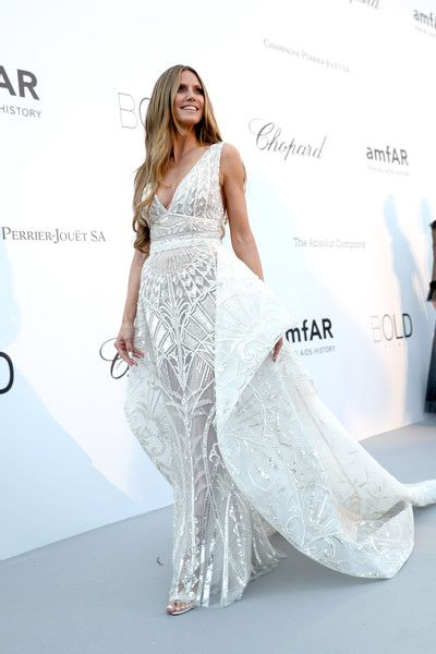 Heidi Klum arrives at the amfAR Gala Cannes 2018 at Hotel du Cap-Eden-Roc.
