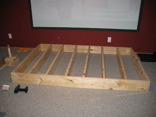 How To Build Carpeted Seating Platforms Diy Network For The Home Theater Bat Decor Rooms
