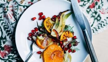 Roasted Fennel And Orange Salad Recipe In 2020 Orange Salad Roasted Fennel Fennel And Orange Salad