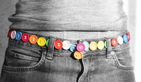 Coloratissima Cintura da Riciclo Creativo dei Bottoni
