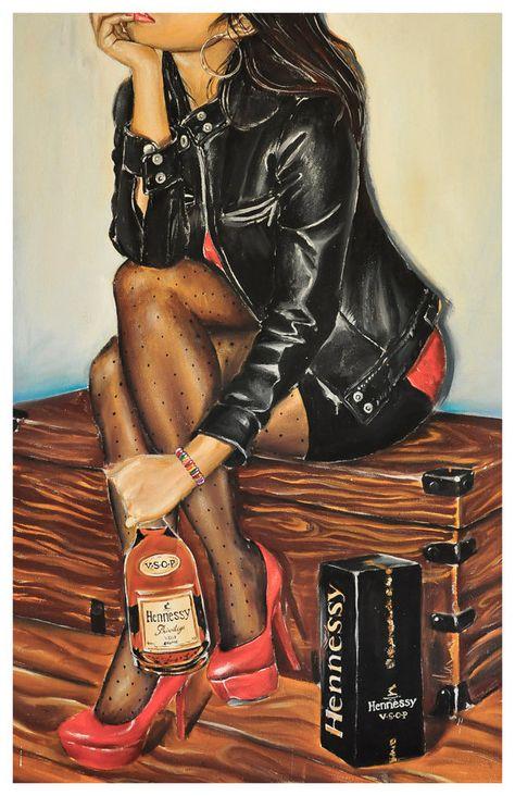 Днем рождения, картинки девушка с вином нарисованные