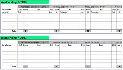 Editable Nursing Schedule Template Free Schedule Template