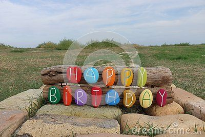 Unique Happy Birthday Message With A Colorful Composition Of