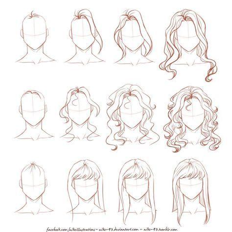 Hair Drawing Tips Products 51 New Ideas Drawing Hair Tutorial Manga Hair Girl Hair Drawing