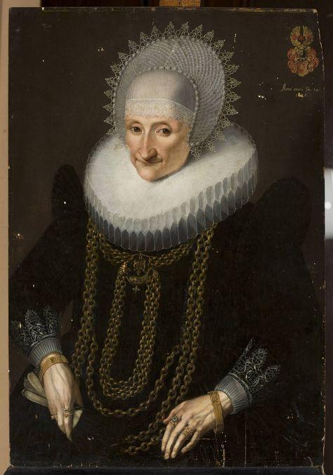 -Portrait of a woman aged 69 by Samuel Hoffmann, ca. 1636 (PD-art/old), Muzeum Narodowe w Warszawie (MNW)