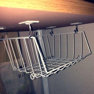 100均 簡単 テーブル裏収納をプチdiy 昭和レトロな団地で暮らすdon Cha家のいろいろ インテリア 収納 Diyの家の装飾 リビングテーブル 収納
