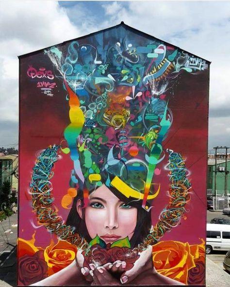 Best Murals Images On Pinterest Murals Urban Art And Street - Artist paints incredible seaside murals balanced on surfboard
