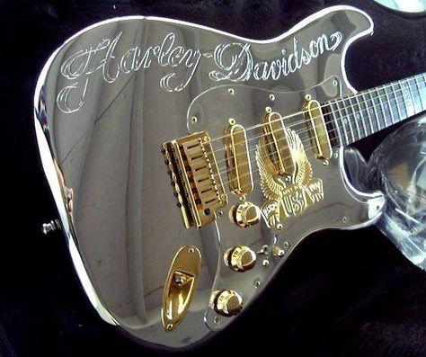 Harley Davidson 90th Custom Fender Strat Guitar Diamond