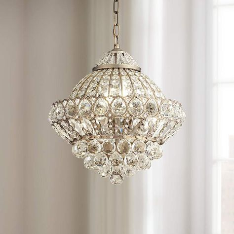 Antique Brass Crystal Chandelier | Small Chandelier Ideas